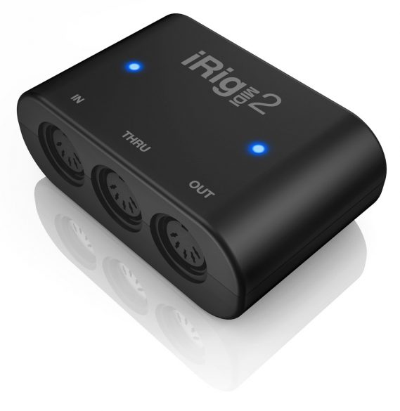 IK MultimediaがiOS対応MIDIインターフェース「iRig MIDI 2」を発表。