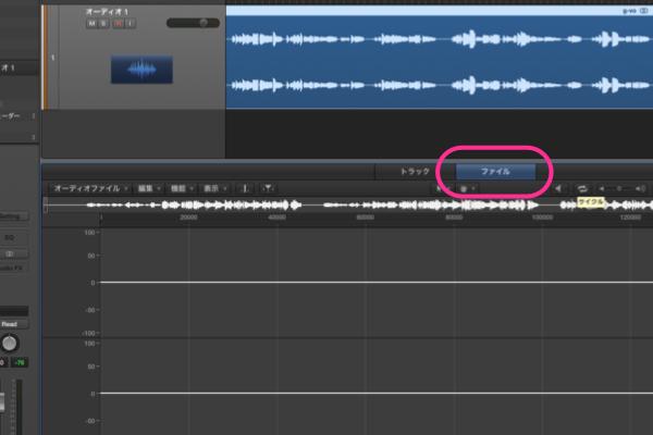 Logic Pro X オーディオデータのピークを探す。