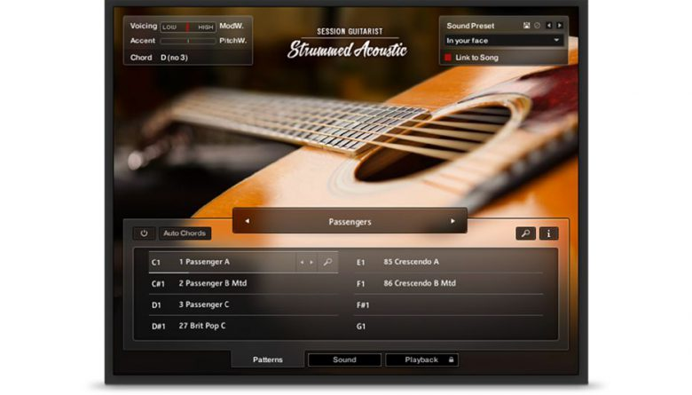 Native Instruments Kontakt用アコースティックギターライブラリ「SESSION GUITARIST – STRUMMED ACOUSTIC」をリリース。