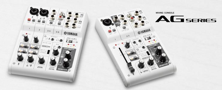 生放送やDTMに最適! YAMAHAがDSP搭載のコンパクトミキシングコンソール「AG06」&「AG03」をリリース。